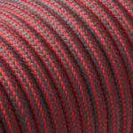 Textilkabel-Rund Gestreift-Fabric-cable-stripe