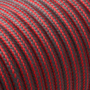 Textilkabel-Rund Gestreift-Fabric-cable-stripe