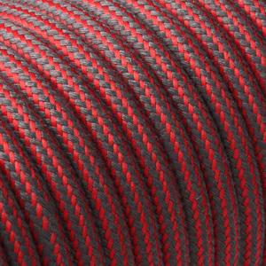 Textilkabel Rund Gestreift