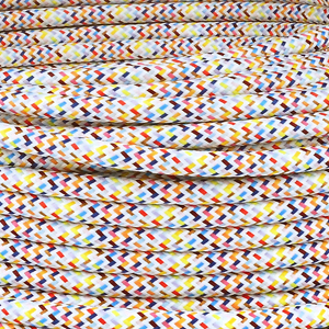Textilkabel Rund Mehrfarbig