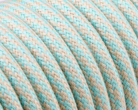 textilkabel-rund-abaca-zigzag-lienen-turkis--fabriccable-round-abaca-zigzag-linen-turqoise