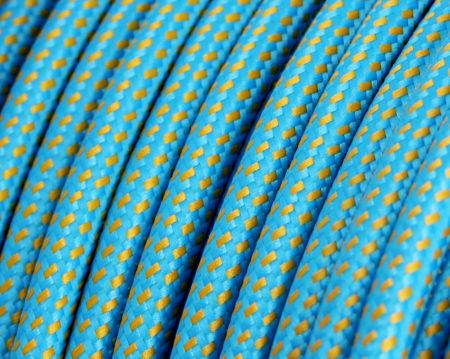 textilkabel-rund-elite-turkis-gold-fabriccable-round-elite-turquoise-gold