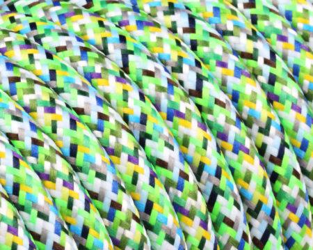 textilkabel-rund-mehrfarbig-pixel-grun--fabriccable-round-multicolor-pixel-green