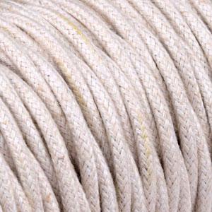 Textilkabel Verdrehte Natürlich