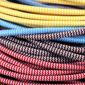 Textilkabel Rund Zickzack