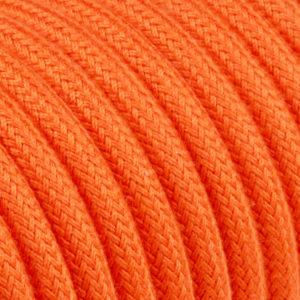 textilkabel-rund-abaca-orange-fabriccable-round-abaca-orange