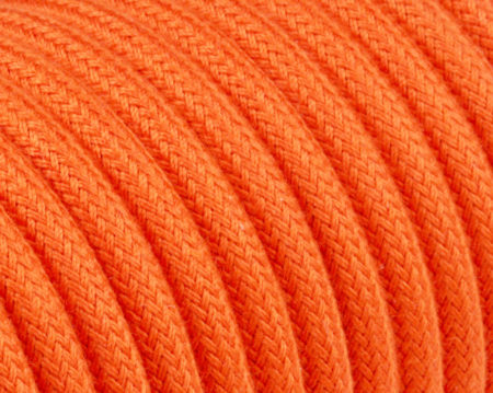 textilkabel-rund-abaca-orange-fabriccable-round-abaca-orange