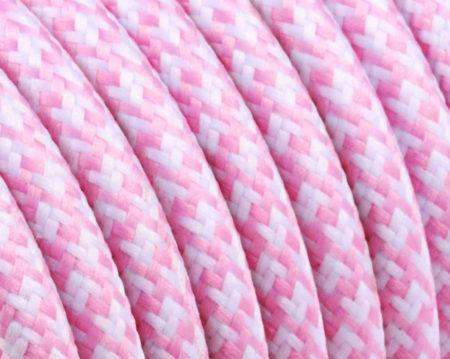 textilkabel-rund-quadrat-zickzack-pink-weiss-fabriccable-round-square-zigzag-pink-white