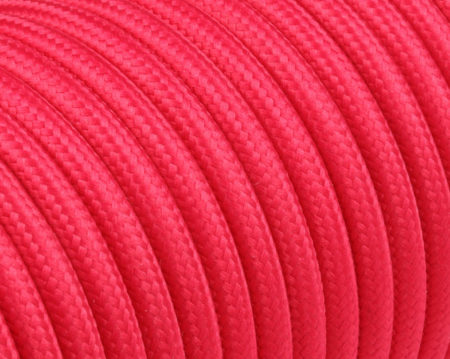 Fabric Cable Round Solid Color Poppy Red - next kabel