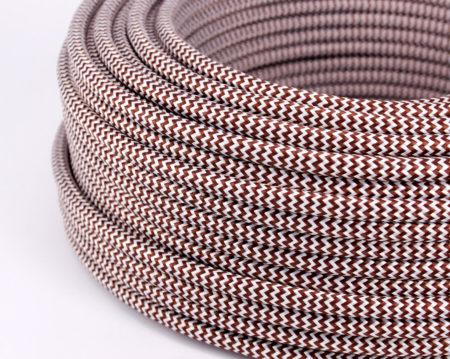 textilkabel-rund-zickzack-braun-weiss-fabriccable-round-zigzag-brown-white.2