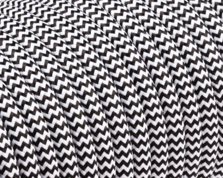textilkabel-rund-zickzack-schwarz-weiss-fabriccable-round-zigzag-black-white
