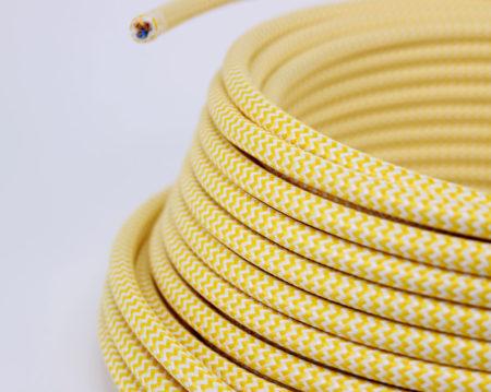 textilkabel-rund-zigzag-gelb-weiss-fabriccable-round-zigzag-yellow-white