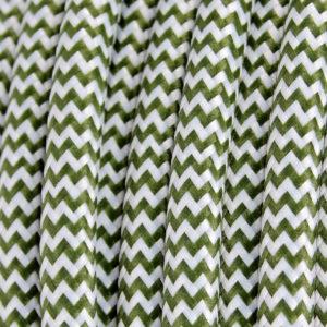 textilkabel-rund-zigzag-olivegrun-weiss-fabriccable-round-zigzag-olive-green-white
