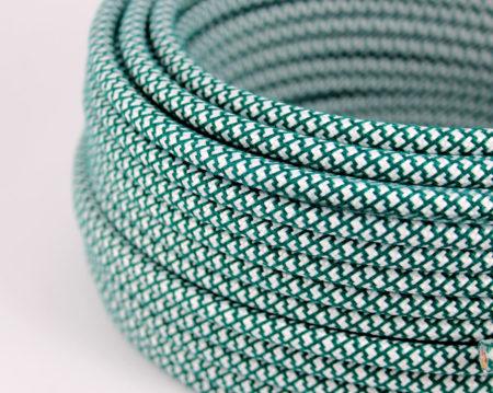 textilkabel-rund-abaca-quadrat-zigzag-dunkle-grun-weiss-fabriccable-round-abaca-square-zigzag-dark-green-white.2