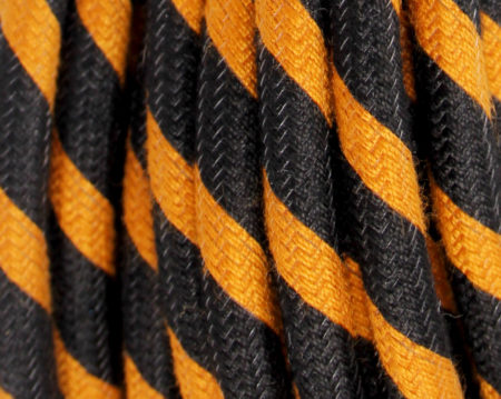textilkabel-rund-fantasia-abaca-dreifach-orange-schwarz-fabriccable-round-fantasia-abaca-triple-orange-black