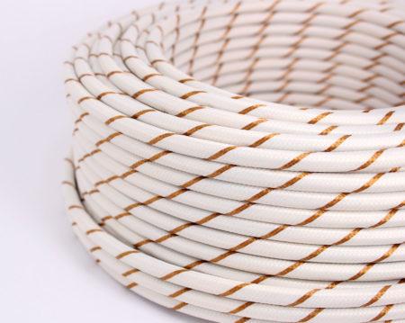 textilkabel-rund-fantasia-gestreift-weiss-gold-fabriccable-round-fantasia-stripe-white-gold