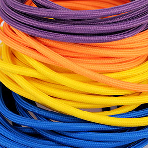 Fabric Cables Round Solid Colors